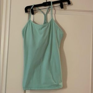 Lululemon Y tank in light turquoise size 8